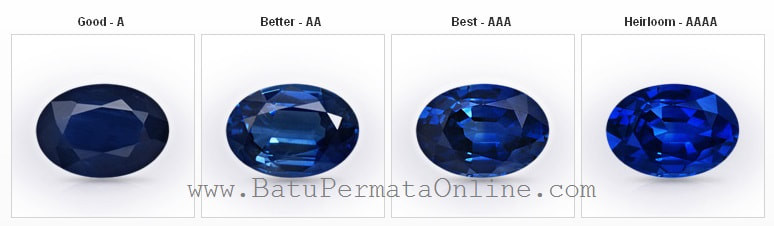 Grade Quality and Color Sapphire