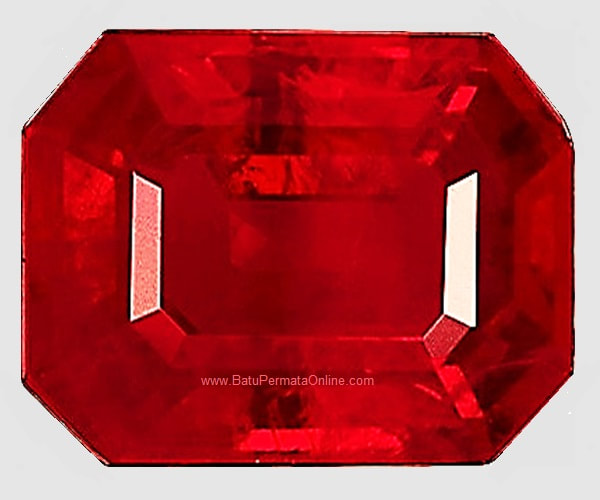 Loose Ruby Octagon Cut