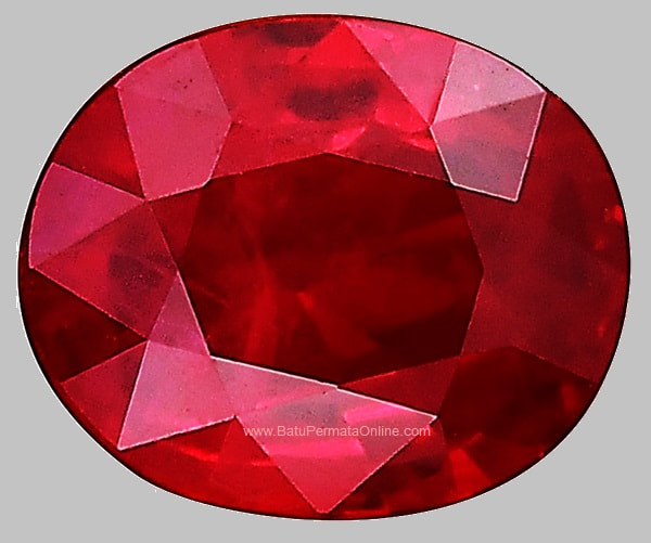 Loose Ruby Oval Cut
